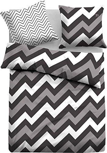 Schöne Bettwäsche aus Linon - grau 135x200 von TOM TAILOR