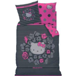 Hübsche Bettwäsche aus Linon - Hello Kitty rosa 135x200 von CTI