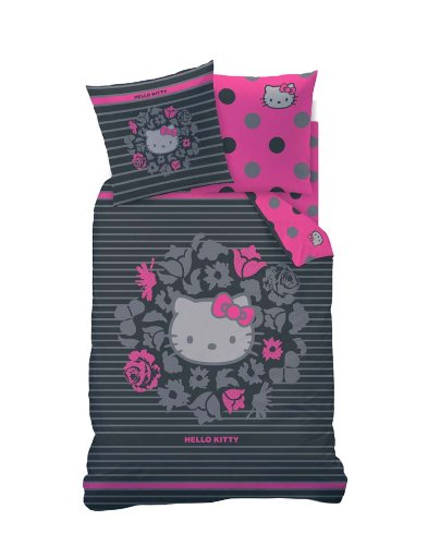 h bsche bettw sche aus linon hello kitty rosa 135x200 von cti bettw sche. Black Bedroom Furniture Sets. Home Design Ideas
