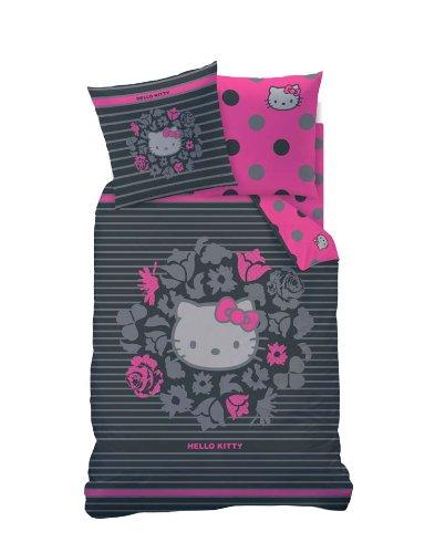h bsche bettw sche aus linon hello kitty rosa 135x200. Black Bedroom Furniture Sets. Home Design Ideas