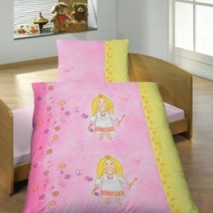 Kuschelige Bettwäsche aus Linon - Prinzessin rosa 100x135 von Unbekannt