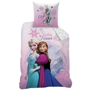 Schöne Bettwäsche aus Linon - rosa 135x200 von Disney