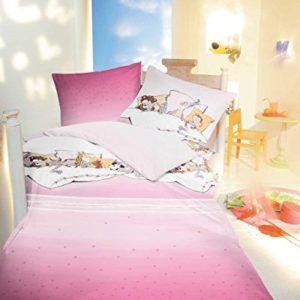 Traumhafte Bettwäsche aus Linon - rosa 135x200 von Kaeppel