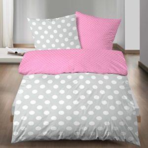 Traumhafte Bettwäsche aus Linon - rosa 155x220 von Biberna