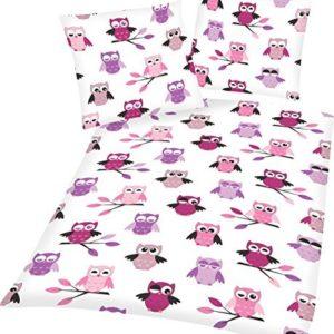 Hübsche Bettwäsche aus Linon - Rosen rosa 135x200 von Aminata Kids