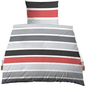 Kuschelige Bettwäsche aus Linon - schwarz 155x200 von Castell