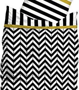Traumhafte Bettwäsche aus Linon - schwarz 155x220 von Sueños