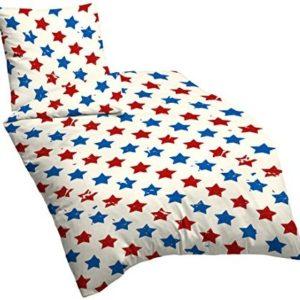 Schöne Bettwäsche aus Linon - Sterne blau 135x200 von Suenos