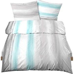 Kuschelige Bettwäsche aus Linon - türkis 135x200 von Castell