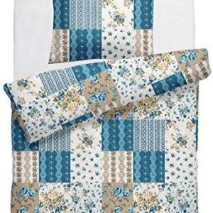 Traumhafte Bettwäsche aus Linon - türkis 135x200 von DecoHomeTextil