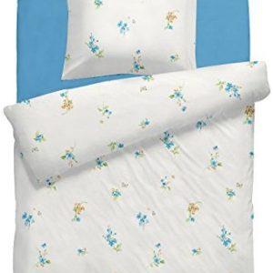Schöne Bettwäsche aus Linon - türkis 135x200 von DecoHomeTextil