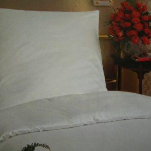 Schöne Bettwäsche aus Linon - weiß 135x200 von Elfi