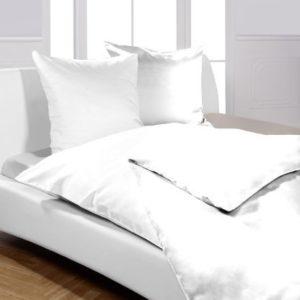 Traumhafte Bettwäsche aus Linon - weiß 135x200 von Moon
