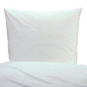 Kuschelige Bettwäsche aus Linon - weiß 135x200 von TextilDepot24