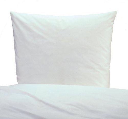 Hübsche Bettwäsche aus Linon - weiß 135x200 von TextilDepot24