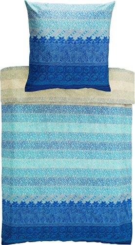 kuschelige bettw sche aus mako satin blau 155x220 von bassetti bettw sche. Black Bedroom Furniture Sets. Home Design Ideas