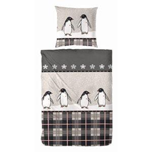 Schöne Bettwäsche aus Mako-Satin - braun 155x220 von Primera