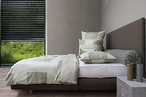sch ne bettw sche aus mako satin gr n 155x220 von hnl living bettw sche. Black Bedroom Furniture Sets. Home Design Ideas
