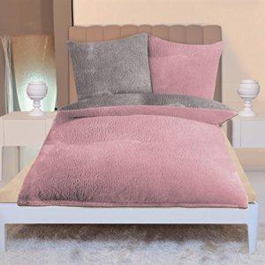 Kuschelige Bettwäsche aus Mako-Satin - rosa 155x220 von Gözze
