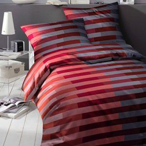 Hübsche Bettwäsche aus Mako-Satin - rot 155x220 von Bruno Banani