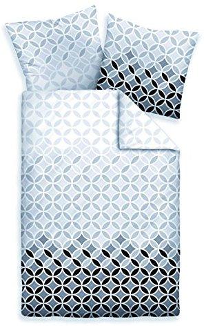 Schöne Bettwäsche aus Mako-Satin - schwarz weiß 135x200 von Biberna