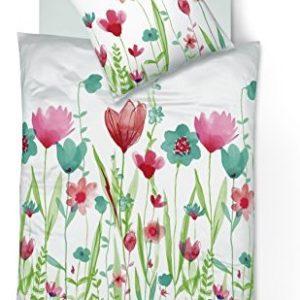 Schöne Bettwäsche aus Mako-Satin - türkis 135x200 von fleuresse