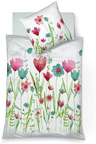sch ne bettw sche aus mako satin t rkis 135x200 von fleuresse bettw sche. Black Bedroom Furniture Sets. Home Design Ideas