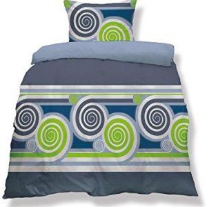 Hübsche Bettwäsche aus Microfaser - blau 135x200 von CelinaTex