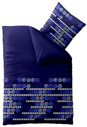 Schöne Bettwäsche aus Microfaser - blau 135x200 von CelinaTex