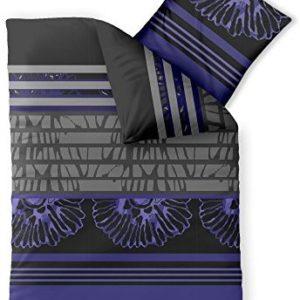 Traumhafte Bettwäsche aus Microfaser - blau 155x220 von CelinaTex