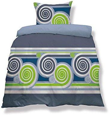 Hübsche Bettwäsche aus Microfaser - blau 155x220 von CelinaTex