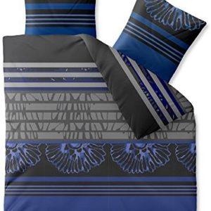 Kuschelige Bettwäsche aus Microfaser - blau 200x200 von CelinaTex
