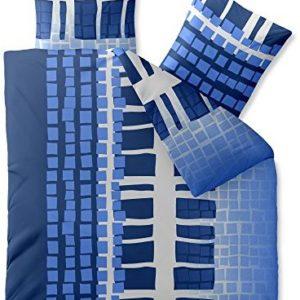 Hübsche Bettwäsche aus Microfaser - blau 200x200 von CelinaTex
