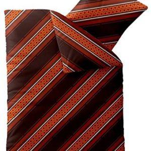 Schöne Bettwäsche aus Microfaser - braun 135x200 von CelinaTex
