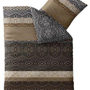 Schöne Bettwäsche aus Microfaser - braun 155x220 von CelinaTex