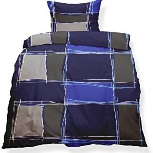 Kuschelige Bettwäsche aus Microfaser - braun 155x220 von CelinaTex