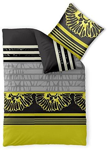 Schöne Bettwäsche aus Microfaser - gelb 135x200 von CelinaTex