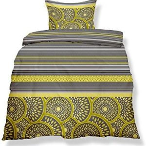 Traumhafte Bettwäsche aus Microfaser - gelb 135x200 von CelinaTex