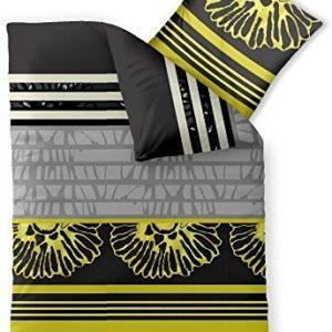 Kuschelige Bettwäsche aus Microfaser - gelb 155x220 von CelinaTex
