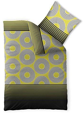 Hübsche Bettwäsche aus Microfaser - gelb 155x220 von CelinaTex
