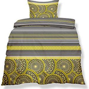 Schöne Bettwäsche aus Microfaser - gelb 155x220 von CelinaTex