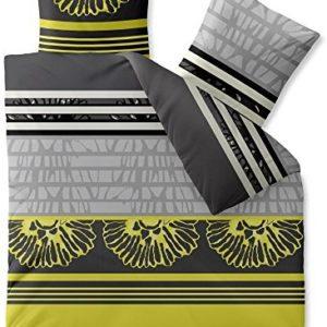 Schöne Bettwäsche aus Microfaser - gelb 200x220 von CelinaTex