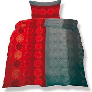 Hübsche Bettwäsche aus Microfaser - grau 135x200 von CelinaTex
