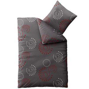 Traumhafte Bettwäsche aus Microfaser - grau 135x200 von CelinaTex
