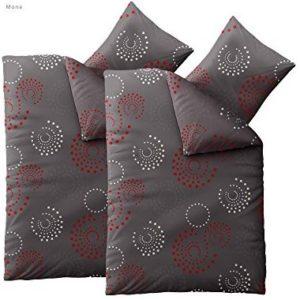 Traumhafte Bettwäsche aus Microfaser - grau 155x220 von CelinaTex