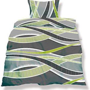 Kuschelige Bettwäsche aus Microfaser - grün 135x200 von CelinaTex