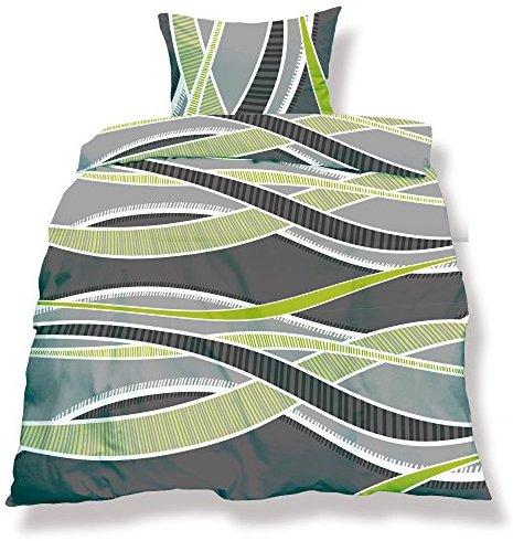 kuschelige bettw sche aus microfaser gr n 135x200 von. Black Bedroom Furniture Sets. Home Design Ideas
