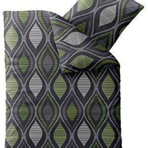 Kuschelige Bettwäsche aus Microfaser - grün 155x220 von CelinaTex