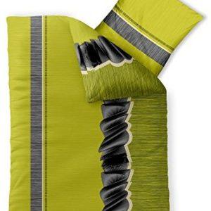 Hübsche Bettwäsche aus Microfaser - grün 155x220 von CelinaTex