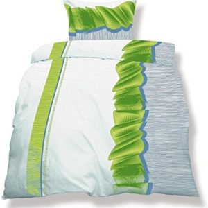 Hübsche Bettwäsche aus Microfaser - grün 200x200 von CelinaTex